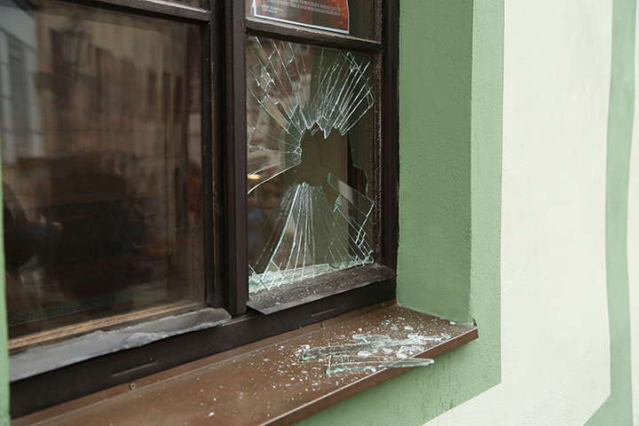 A2B Glass are able to board up broken windows while they are being repaired in Southall Broadway.